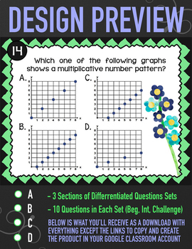 Graphing Numerical Patterns ★ Number Patterns Activity for Google Classroom 5OA3