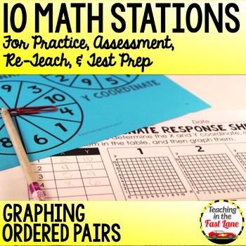 Graphing Ordered Pairs Test Prep Math Stations