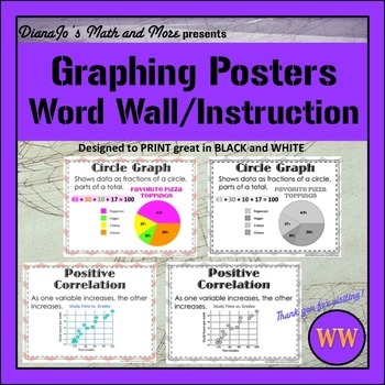Word Wall Graphing POSTER Set