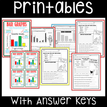 Bar Graph worksheets and anchor charts