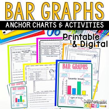 Bar Graph worksheets and anchor charts