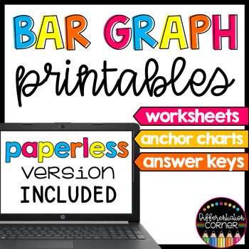 Graphing Pack >Bar Graphs<  with anchor charts