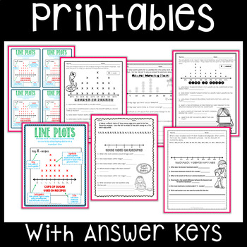Line Plot Worksheets And Anchor Charts By Differentiation Corner