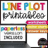 Line Plot worksheets and anchor charts