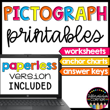 Pictograph worksheets and anchor charts