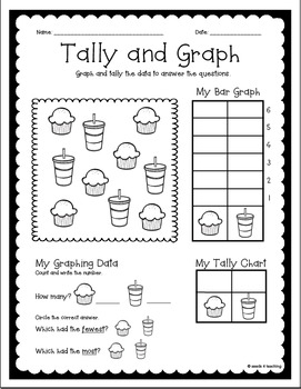 Graphing Pages for Kinder and First Grade