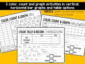 Graphing Worksheets for Autumn