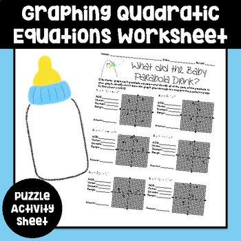 Graphing Parabola's Puzzle Worksheet
