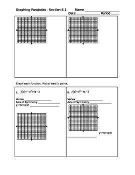 Graphing Parabolas