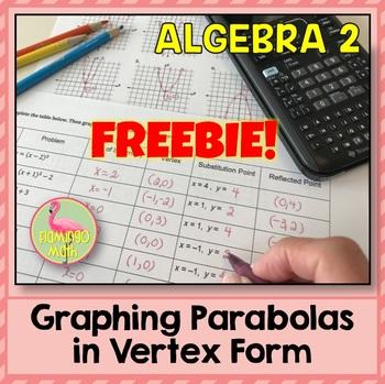 Algebra 2: Graphing Parabolas In Vertex Form FREEBIE