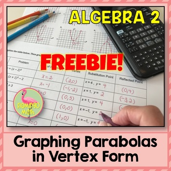 Algebra 2 Graphing Parabolas In Vertex Form Freebie By Jean Adams