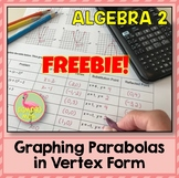 Graphing Parabolas In Vertex Form Freebie