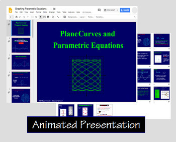 Graphing Parametric Equations with Google™ Slides