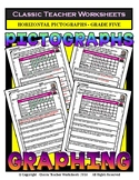 Graphing - Pictographs (Horizontal) - Grade Five (5th Grade) - Worksheets/Test