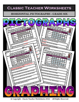 Graphing - Pictographs (Horizontal) - Grade Six (6th Grade