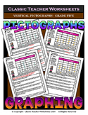 Graphing - Pictographs (Vertical) - Grade Five (5th Grade) - Worksheets/Test