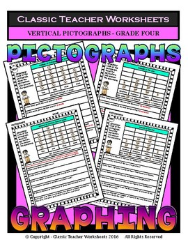 Graphing - Pictographs (Vertical) - Grade Four (4th Grade)