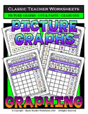 Graphing - Picture Graphs -Cut and Paste- Grade One (1st Grade)- Worksheets/Test