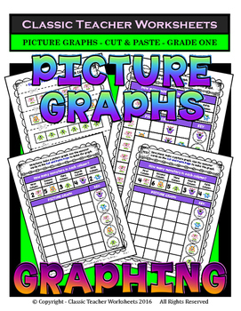 Graphing - Picture Graphs -Cut and Paste- Grade One (1st G