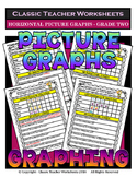 Graphing - Picture Graphs (Horizontal) - Grade Two (2nd Grade) - Worksheets/Test