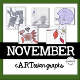 Coordinate Graphing Activity -THANKSGIVING and more for November