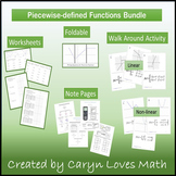 Graphing Piecewise Defined Function~Activity~Practice Pages~Bundle