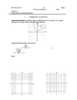 graphing piecewise functions graphing piecewise functions - Graphing Piecewise Functions Worksheet