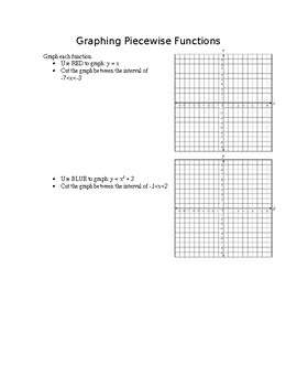 Graphing Piecewise Functions Task Cards