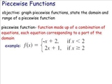 Graphing Piecewise Functions