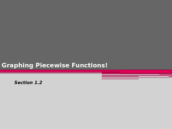 Graphing Piecewise and Step Functions