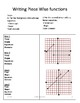 Graphing Piecewise and absolute value- Differentiated Instruction