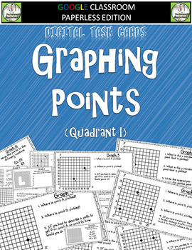 Graphing Points Digital Task Cards 5.G.1 and 5.G.2