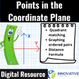Graphing Points on the Coordinate Plane & Distance Formula