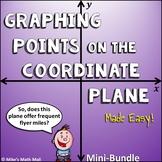 Graph Points on the Coordinate Plane (Mini Bundle)