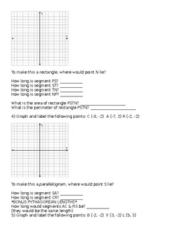 Graphing Polygons & Finding Segment Lengths on Coordinate Plane
