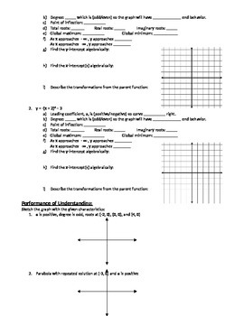 Graphing Polynomial Equations in (h, k) Form - Notes