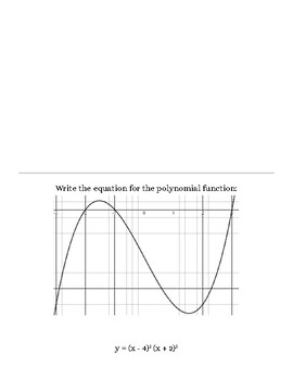 Graphing Polynomial Functions Scavenger Hunt