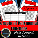 Graphing Polynomial Functions (degree 2-4) Walk Around Activity; Algebra 2