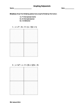 graphing polynomials worksheet - Graphing Polynomial Functions Worksheet