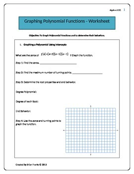 Graphing Polynomials and Their Properties