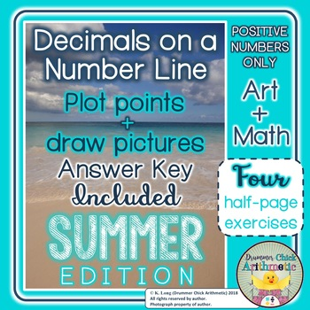 Graphing Positive Decimals on a Number Line Summer Edition