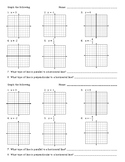 Graphing Practice - Horizontal and Vertical Lines