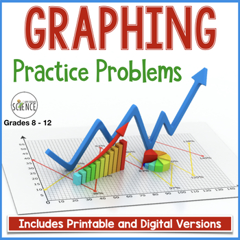 Graphing Practice Problems Worksheets by Amy Brown Science | TpT