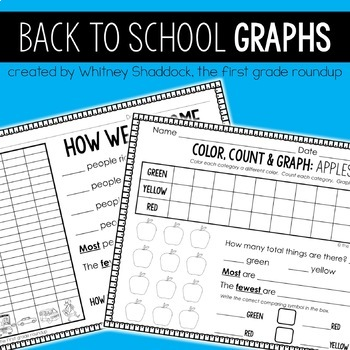Graphing Printables for K-2: Back-To-School