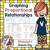 Graphing Proportional Relationships Worksheet with Answer KEY