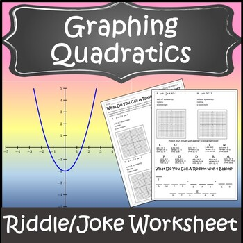 Graphing Quadratic Functions Activity {Graphing Quadratic Equations Worksheet}