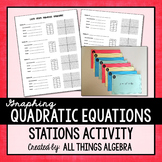 Graphing Quadratic Equations Stations Activity