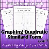 Graphing Quadratic Equations in Standard Form  Walk-around Activity- Level 1