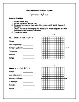 Graphing Quadratic Equations and Factoring Algebra 2 Notes, Practice, and Quiz