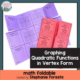 Graphing Quadratic Functions Math Foldable